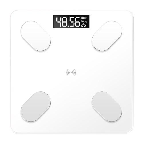 Bluetooth Scale Body Weight Bathroom Scale Smart LED Display Scale Body Weight Body Fat Water Muscle Mass BMI BMR