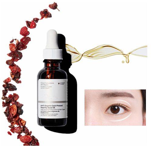 100% Organic Cold-Pressed Rose Hip Seed Oil Ordinary Nourish Minerals Face Makeup Primer Serum Revitalise Skin Vitamins A