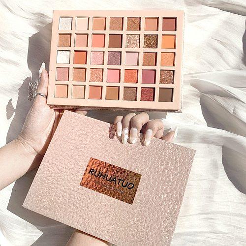 36 Colors Matte Shimmer Smoky Eyeshadow Palette Waterproof Glitter Diamond Pigment Highlighter Eye Shadow Powder Makeup Beauty
