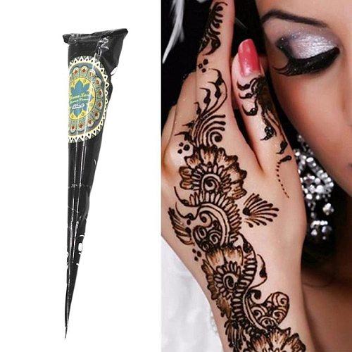 Black Henna Cones Body Paint Henna Tattoo Paste For Temporary Tattoo Body Art Sticker Mehndi Body Paint Tattoo Henna Cream