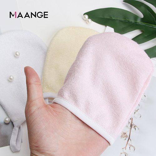 MAANGE 1Pcs Reusable Microfiber Facial Cloth Face Towel Makeup Remover Cleansing Glove Tool Beauty Face Care Towel 16.5*10 cm