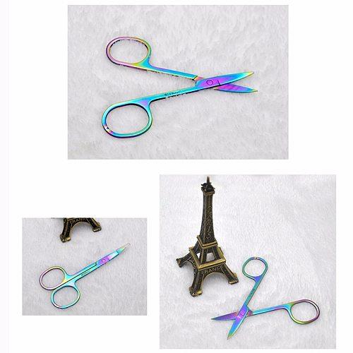 Dropshipping Stainless Steel Sharp Tip Eyebrow Makeup Scissors Face Hair Trimming Tweezer Scissors Beauty Tool SMJ