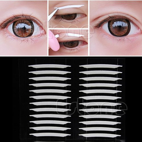 240 Pairs Makeup Clear Lace mesh Eyelid Stripe Big eyes Invisible double fold eyelid shadow sticker Double Eyelid Tape Tools