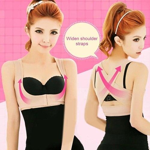 Women Adjustable Elastic Back Support Belt Chest Posture Corrector Shoulder Brace Body Shaper Corset Health Care S/M/L/XL/XXL