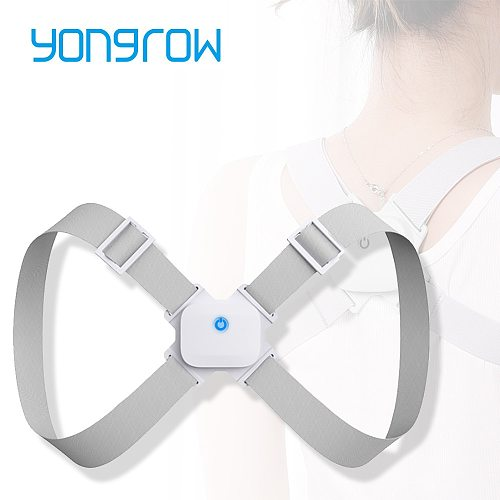 Yongrow Back Shoulder Brace Posture Corrector Belt Adjustable Spine Support Correct Posture for Men and Women