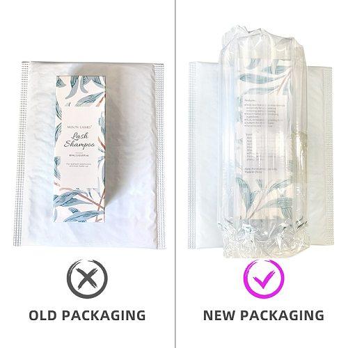 60ml Lash Shampoo Kit eyelash extension cleaning for lash lift eyelash glue Foam Pump Design No Stimulation Makeup Clean