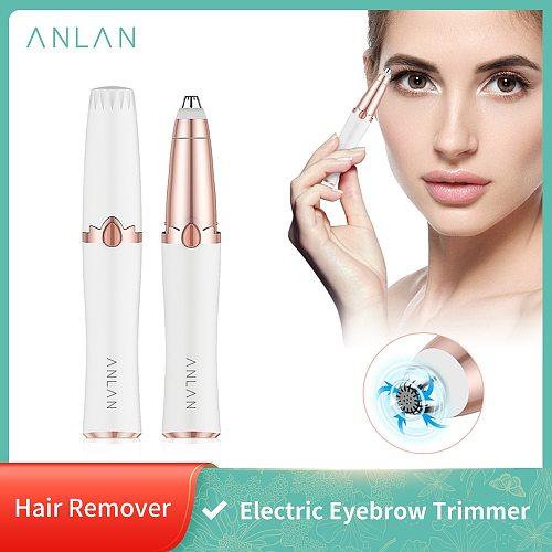ANLAN New Design Electric Eyebrow Trimmer Makeup Painless Eye Brow Epilator Mini Shaver Razors Portable Facial Hair Remover