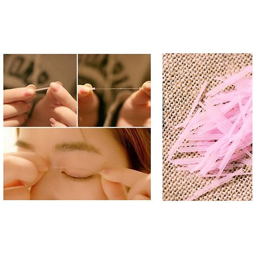 200pcs Invisible Double Eyelid Tape Fiber Magic Eyelid Stickers Double Sided Strip Adhesive Natural Eye Tape Beauty Tools