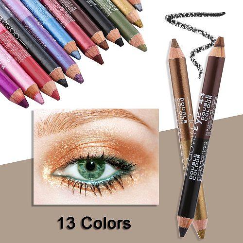 1PC Highlighter Glitter Eyeshadow Eyeliner Pen Durable Long Lasting Waterproof Sweatproof Double-Ended Eyes Pencil Eye Makeup