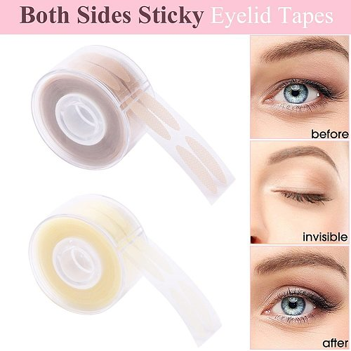 600Pcs/box Big Eyes Make Up Eyelid Sticker Double Eyelid Tape Fold Self Adhesive Stickers S/L Makeup Clear Beige Invisible Tool