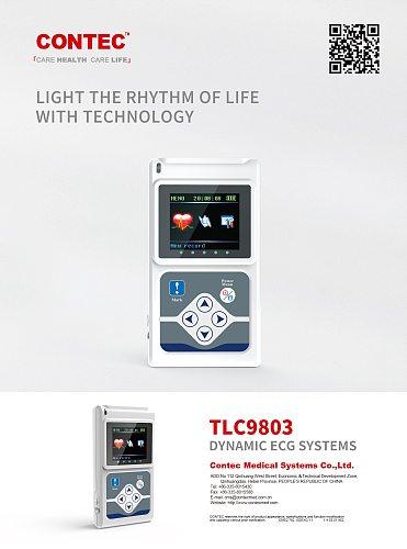 TLC9803 New 3Channel 24H ECG/EKG Holter System Analyzer Recorder Monitor