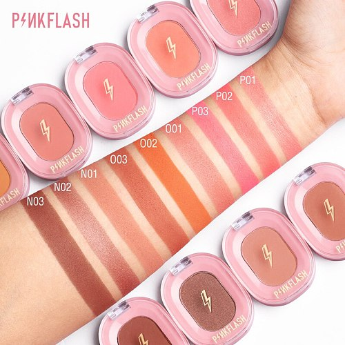Single Color Blush Makeup Palette Face Blush Concealer Powder Red Rouge Lasting Natural Blusher Cream Cheek Tint Makeup TSLM1
