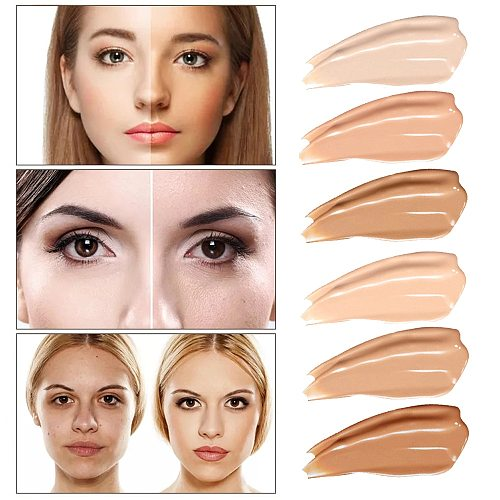 30ml Face Matte Liquid Foundation Base Makeup Oil Control 24 Hours Lasting Concealer Full Coverage Waterproof Contour Makeup