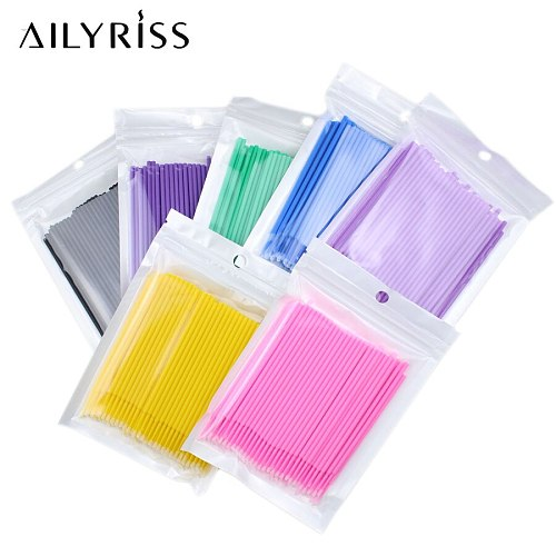 100PCS/Pack Microbrushes for Eyelash Extension Makeup Brushes Swab Disposable Individual Applicators Mascara Eyelashes Brushes