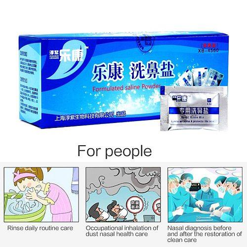 60Bags/box Nose Care Nasal Wash Cleaner's Salt Allergic Rhinitis Children Cleaning Nose Protector Cleanser Nasal Irrigation Salt