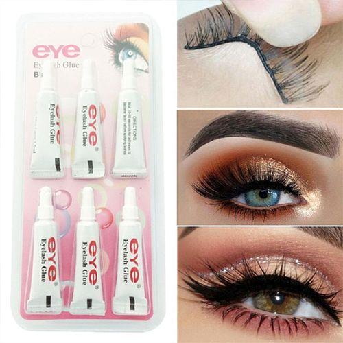6Pcs Practical Waterproof Eyelashes Glue False Eye Lash Extension Adhesive Paste