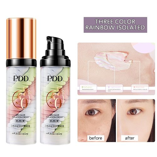 Three-color Bird Feces Isolation Cream Long Lasting Moisturizing Easy To Apply Makeup Primer Concealer Primer Oil Control TSLM1