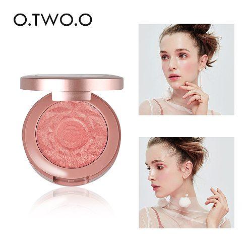 O.TWO.O Face Blusher Powder Palette Makeup Cheek Blusher Powder Minerals Palettes Blusher Brush Palette Cream Natural Blush