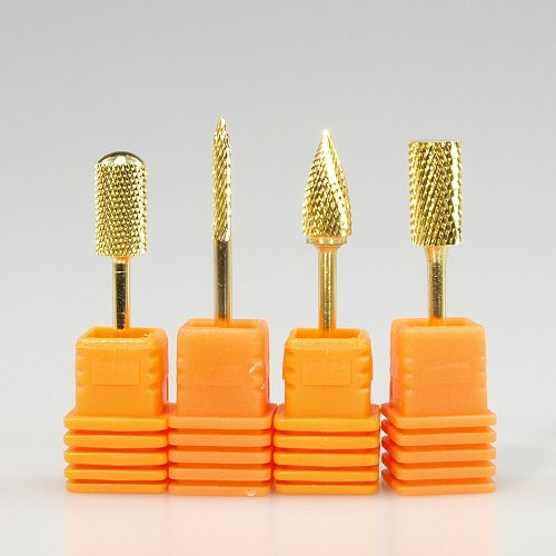 Easy Nail 3/32'' Golden Professional Carbide Nail Drill Bit  Electric Nail File Gold Drill Bit Hot selling High quality