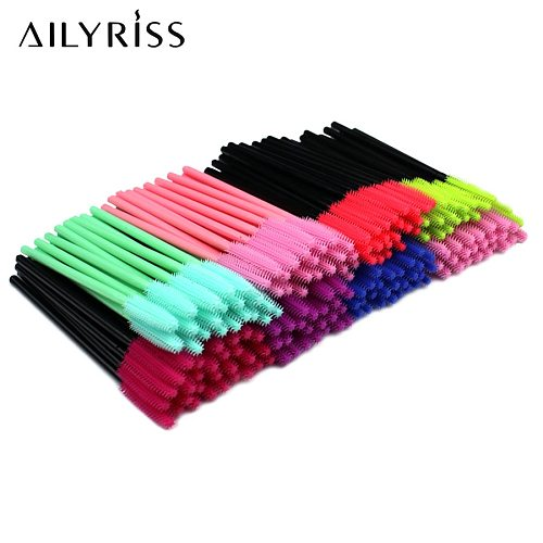 Disposable Silicone Gel Eyelash Brush Comb Mascara Wands 25/50pcs Eye Lashes Extension Tool Professional Beauty Makeup Tool