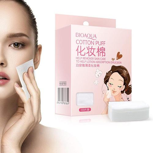 100pcs/box Makeup Cotton Pads Face Deep Cleansing Remover Skin Care Soft Paper Wipe Nail Polish Remover Tissues