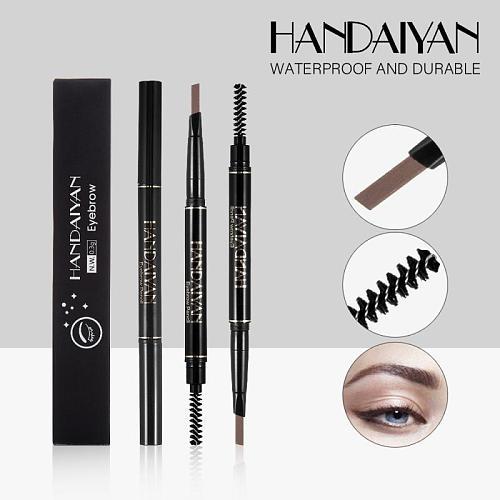 HANDAIYAN Eyebrow Tattoo  Pencil Brush Double Ended Microblading Lasting Fine Sketch Tint Liquid Eyebrow Pen  Makeup TSLM2