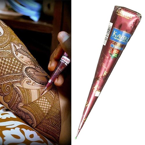 Black Brown Henna Cones Indian Henna Tattoo Paste For Temporary Tattoo Body Art Sticker Natural Body Paint Tattoo Henna Cones