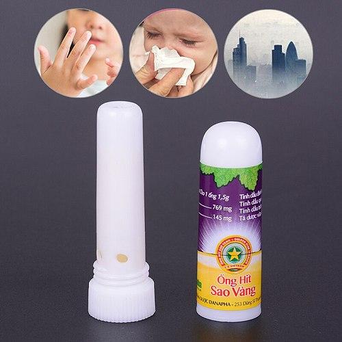 1Pcs Vietnam Mint Nasal Inhaler New Nasal Inhaler Smell Dizziness Inhaler Breezy Asthma Refreshing Aroma Oil Stick
