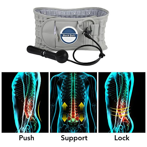 Decompression Lumbar Support Belt Lumbar Traction Air Compression Spinal Lower Back Brace Support Disc Herniation Correction