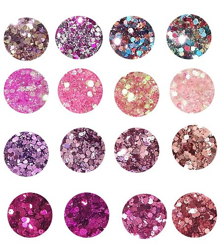 4 Boxes 10ml  Chunky Glitter Mix, CUSTOM GLITTER MIX Custom Glitter Sequin 0.2-2mm Glitter Nail Art Tip Decor For Nail Art