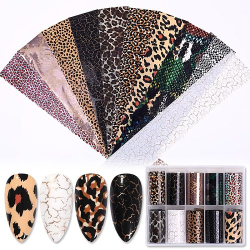 1 Box Nail Foils Snake Sparkly Paper Nail Art Transfer Sticker Slide Nail Art Decal Nails Accessories