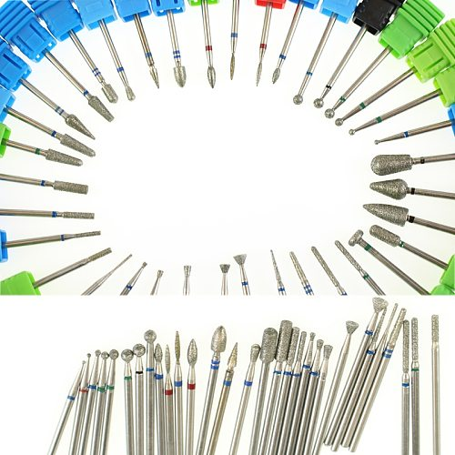 36 Type Diamond Nail Drill Bits Electric Manicure Burr Milling Cutter Manicure And Pedicure Rotary Nail Files Nail Art Tools