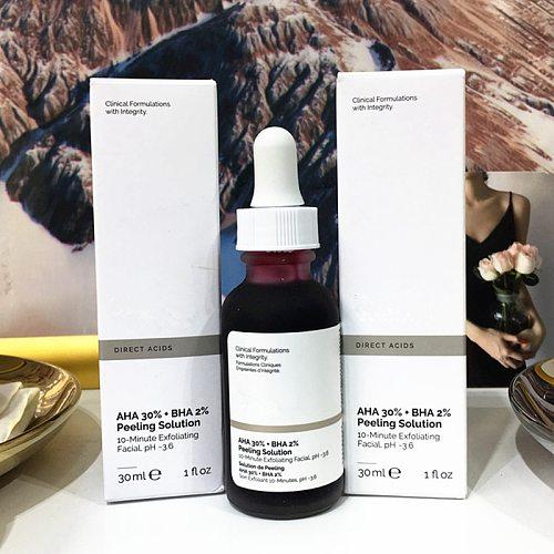 Peeling Solution 30ml AHA 30% + BHA 2% Ordinary to peel that dead top layer Make Up Anti Skin Care Serum Oil Balance
