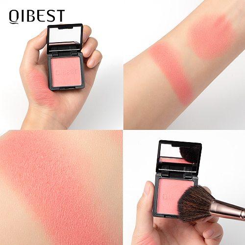 QIBEST Makeup Blusher Powder Palette Top Quality Professional Cheek 8 Colors Blusher Face Contour Blusher Korean Cosmetics