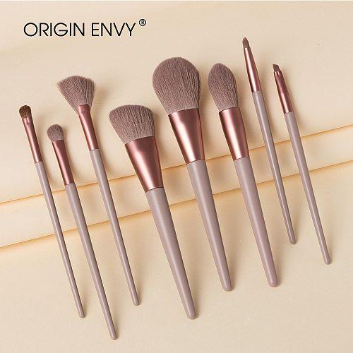 ORIGIN ENVY 8Pcs Horse Hair Makeup Brushes Tool Set Cosmetic Powder Eye Shadow Foundation Blush Blending Beauty Make Up Brush
