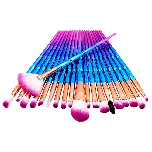 20PCs Diamond Makeup Brushes Set For Eye Shadow Powder Foundation Lip Professional Make-up Tools Cosmetic Beauty Make Up Brush