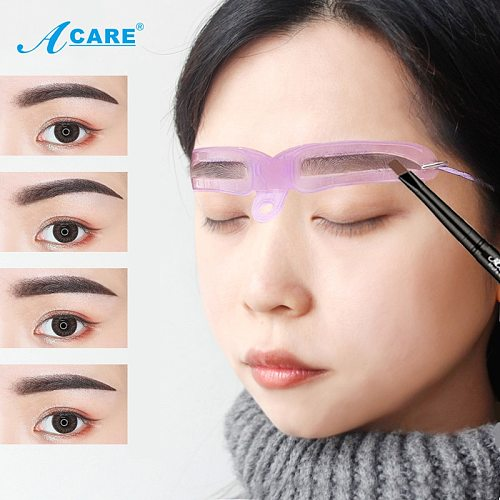 8PCS Eyebrow Shaper Makeup Template Eyebrow Grooming Shaping Stencil Kit DIY Eyebrow Template Reusable 8 in1 Eyebrow Shaping