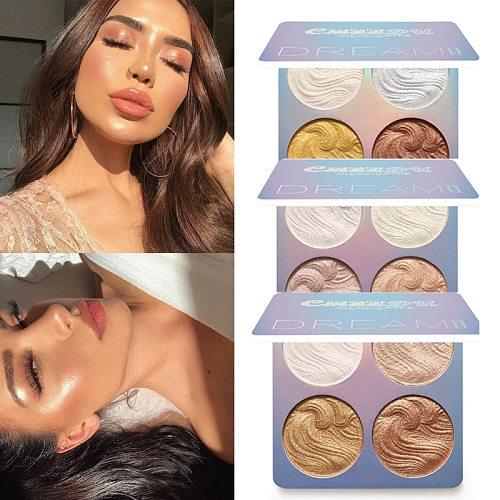 Face  Highlighter Makeup Face Brighten Contouring Shimmer Shiny Liquid Highlighter Powder Palette Bronzer