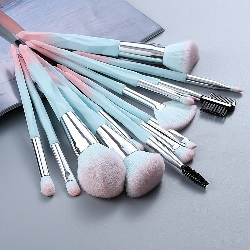 FLD 13/5 pcs Blue Makeup Brushes Set Face Eye Lip Eyeshadow Eyebrow Comb Eyelash Spoolies Foundation Powder Brush Tools Cosmetic