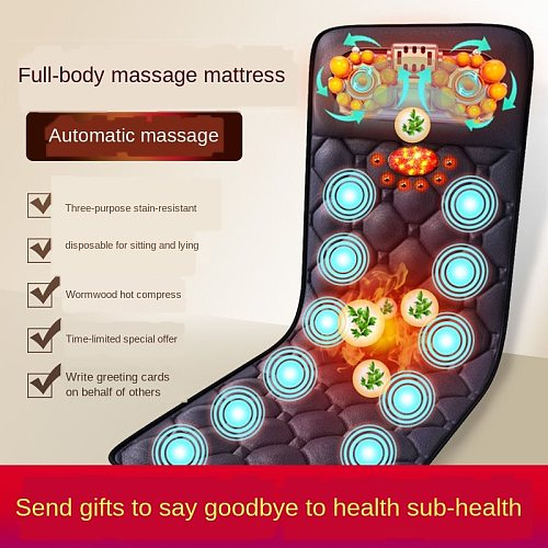 Air bag push whole body massage electric wormwood hot compress relaxation treatments multi-functional kneading chair cushion