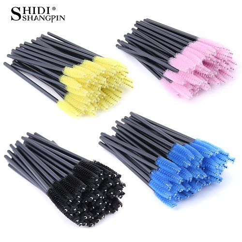 50/100 Pcs Eyelash Extension Disposable make up Eyebrow brush Mascara Wand Applicator Eye Lashes Cosmetic Brushes Set makeup kit