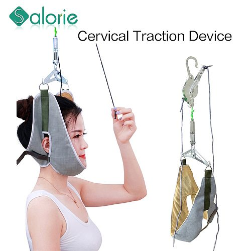 Neck massage relax Support head neck cervical traction relaxation device Relieve cervical neck head pain chiropractic healthcare