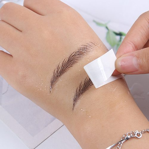 1 Sheet Long Lasting Natural Fake Eyebrow Lamination Eyebrows Makeup Waterproof Eyebrow Tattoo Sticker Beauty Supplies