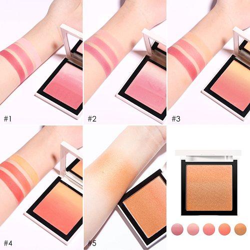 FOCALLURE Face Blush palette Natural pink cheek waterproof long lasting silky orange powder  professional blush maquiagem
