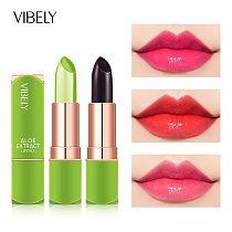 3.8g Aloe Vera Lipstick Temperature Color Change Moisturizing Nutritious Long Lasting Lip Balm Lip Gloss Lip Tint Makeup TSLM1