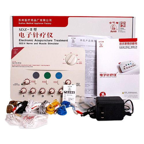 Hwato SDZ-II Nerve and Muscle Stimulator EMS TENS Electro Acupuncture Treatment Instrument 3 Waveform 6 outputs 110V 220V