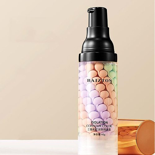 1pcs three-color touch-up cream to brighten the skin refreshing and moisturizing BB cream natural nude makeup