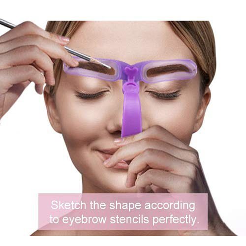 8 In 1 Reusable Eyebrow Shaper Makeup Template Eyebrow Grooming Shaping Stencil Kit Eyebrow Template Reusable Eyebrow Shaping