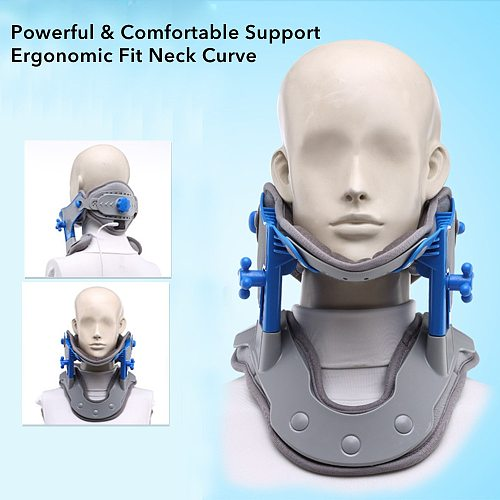 Heating Cervical Neck Traction Device Adjustable Collar Cervical Neck Stretcher Cervical Vertebra Brace Support Device