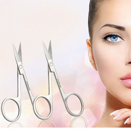 1Pcs Stainless Steel Small Nail Tools Eyebrow Nose Hair Scissors Cut Manicure Facial Trimming Tweezer Makeup Beauty Tool